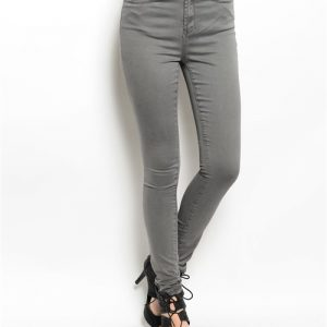 Gray Soft Denim Pants