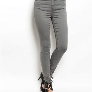 Gray Soft Denim Pants
