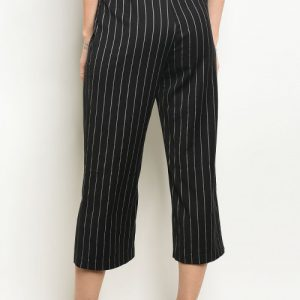 Black and Gray Stripe Pants