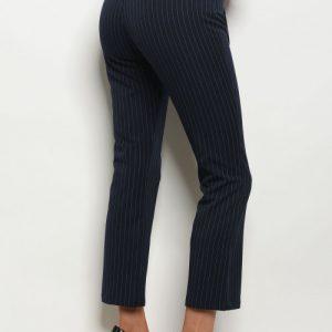 Navy Drawstring Stripe Pants