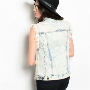 Denim Acid Wash Vest