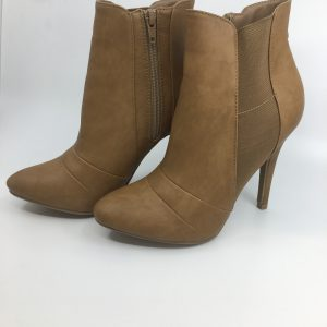 Beige Heeled Booties