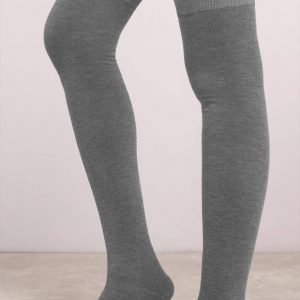 Set of 3 Cotton Knee High Socks