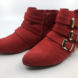 Booties With Gold Clips