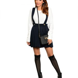 Navy School Girl Romper