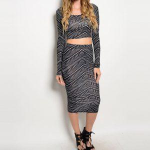 Tribal 2 Piece Skirt Set