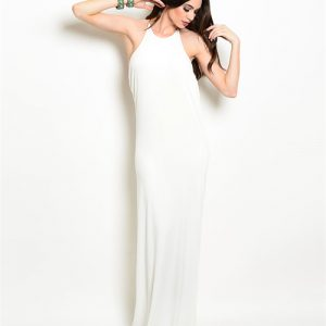 Ivory Open Back Gown
