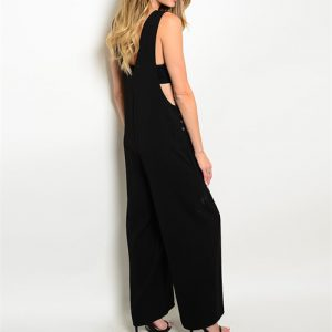 Black Boho Style Jumpsuit