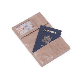 """HOBO Handbags"" Leather Passport Wallet"