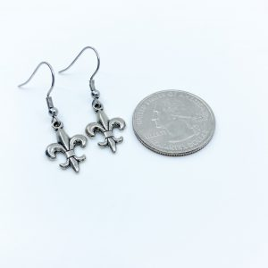 Handmade Fleur-de-lis Earrings