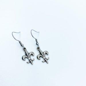 Handmade Fleur-de-lis Earrings