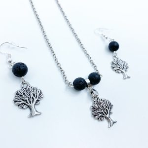 Handmade Tree Of Life Necklace and Earring Set