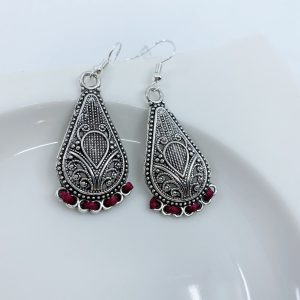 Handmade and Hand Threaded Dangle Earrings