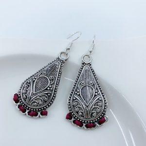 Handmade and Hand Threaded Dangle Earrings