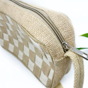 Mini Check Handmade Handbag in White
