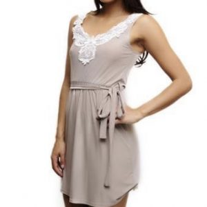 Tan and Cream Tank Summer Dress
