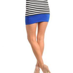 Muli-Color Striped Mini Skirt