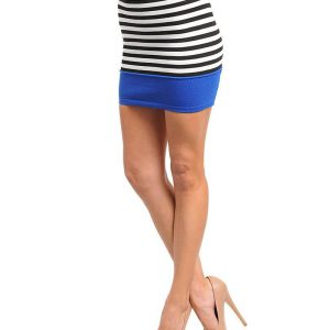 Muli-Color Striped Mini Skirt