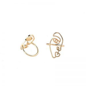Set of Two Contemporary Abstract Rings