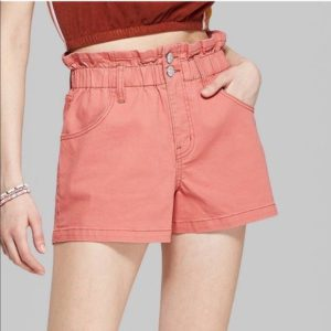 Wild Fable Peach High Waist Shorts